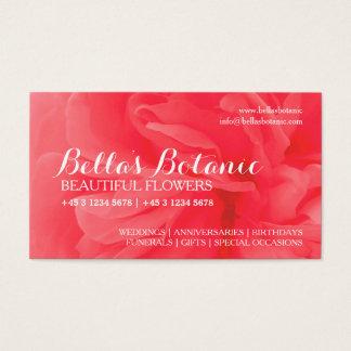 Floristry orange red pink florist business cards