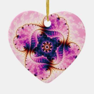 Florivet - arte del fractal adorno de cerámica en forma de corazón