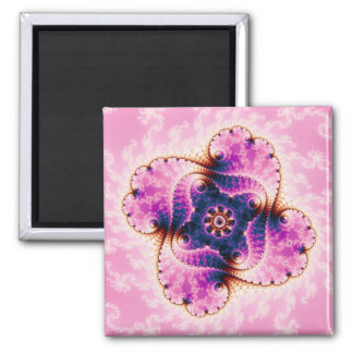 Florivet - arte del fractal imán cuadrado