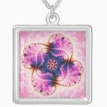 Florivet - Fractal Art Silver Plated Necklace