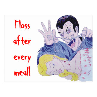 Floss after every meal! postcard
