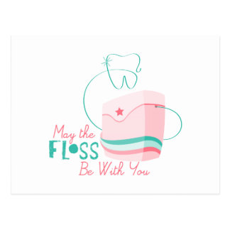 Floss be with You Postcard