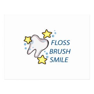 Floss Brush Smile Postcard
