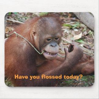 Floss Teeth Dental Care Humor Mouse Pad