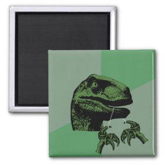 Flossoraptor Philosoraptor 2 Inch Square Magnet