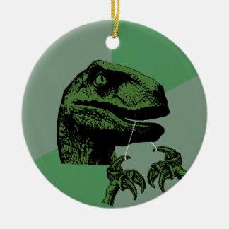 Flossoraptor Philosoraptor Ceramic Ornament