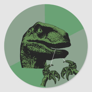 Flossoraptor Philosoraptor Pegatina Redonda