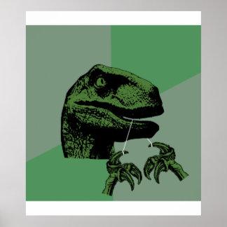 Flossoraptor Philosoraptor Poster