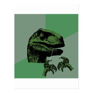 Flossoraptor Philosoraptor Tarjeta Postal