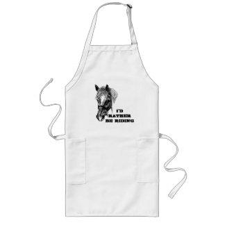 'flossy' horse long apron