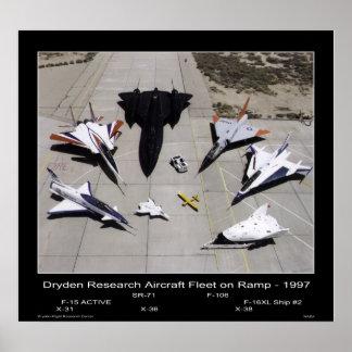 Flota de aviones de investigación de Dryden en la  Póster