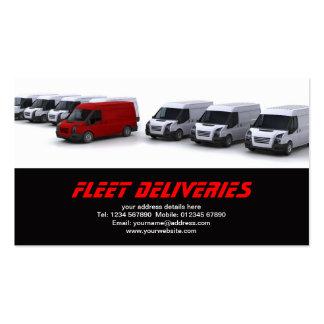 Flota de la tarjeta de visita de las furgonetas