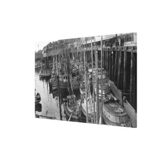 Flota de pesca con cebo de cuchara con cebo de cuc impresión de lienzo