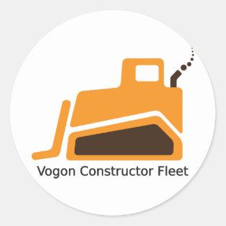Flota del constructor de Vogon Pegatina Redonda