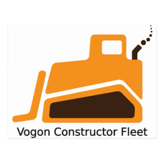 Flota del constructor de Vogon Tarjetas Postales