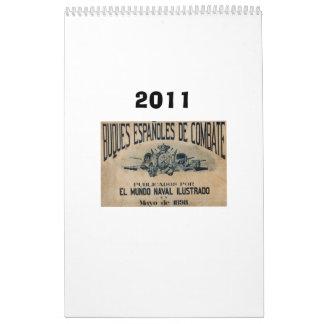 Flota española 1898 calendarios de pared
