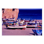 Flota pesquera, el Algarve, Portugal Impresiones