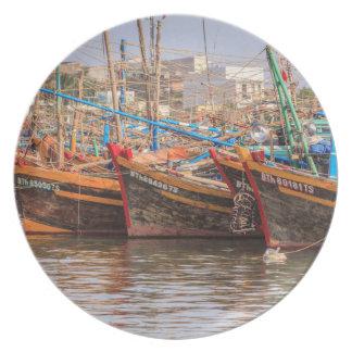 Flota pesquera platos de comidas
