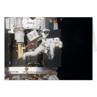 Flotación del astronauta tarjetón