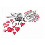 Flotación en amor postales