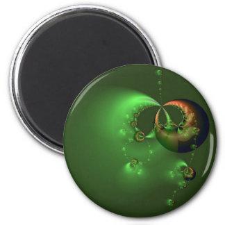 Flotación en imán verde
