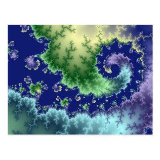 Flotación hacia fuera - de la postal del fractal