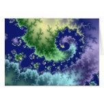 Flotación hacia fuera - de la tarjeta del fractal