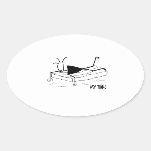 flotación, relajándose colcomanias oval personalizadas