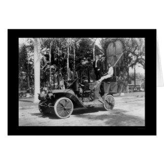 Flotador auto del festival de Hawaii por Yale 1912 Tarjeta De Felicitación