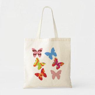 Flotador como una mariposa bolsa lienzo