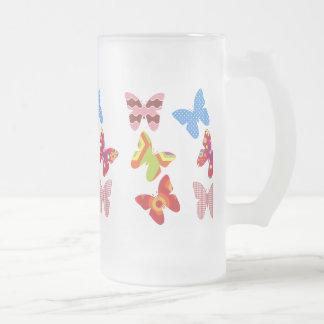 Flotador como una mariposa taza de café