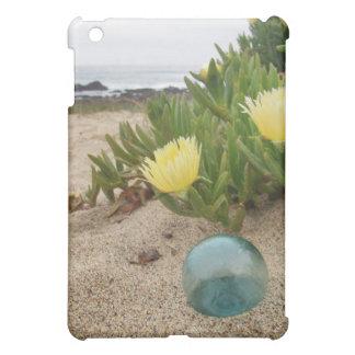 Flotador de cristal en la playa