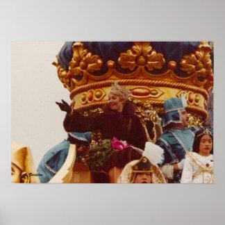 Flotador de la reina de la celebridad del carnaval póster