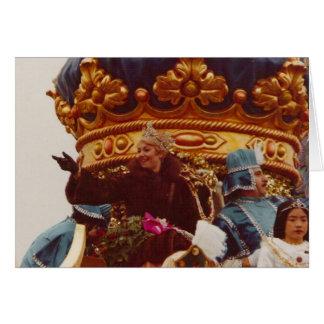 Flotador de la reina de la celebridad del carnaval felicitaciones