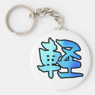 flotador del arte del kanji llaveros personalizados
