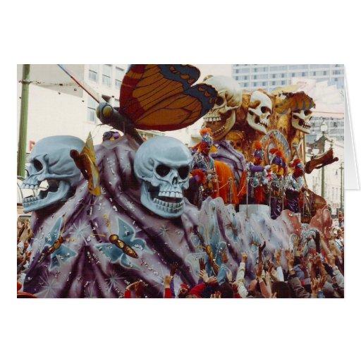 Flotador del carnaval tarjeta de felicitación