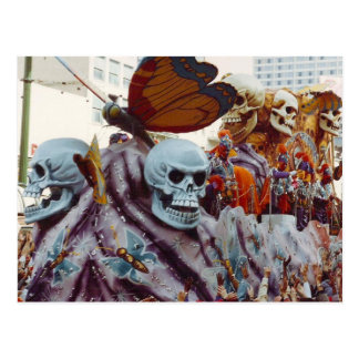 Flotador del carnaval tarjeta postal