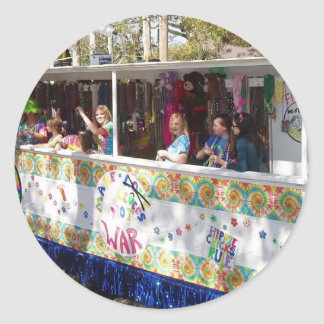 Flotador del Hippie del carnaval Pegatina