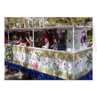 Flotador del Hippie del carnaval Felicitacion