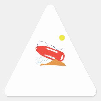 Flotador del salvavidas pegatina triangular