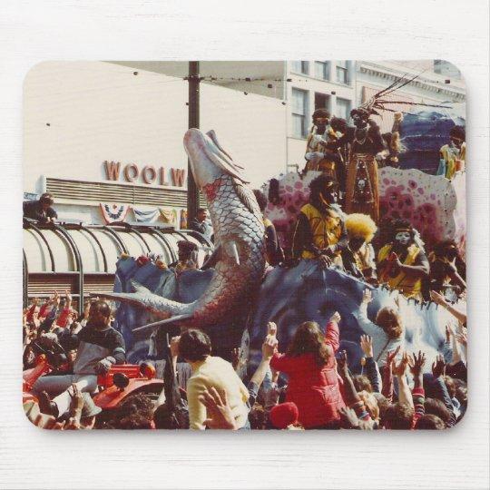 Flotador del Zulú del carnaval Mouse Pad