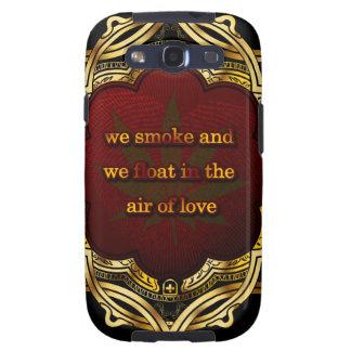 Flotador en el aire del amor RASTA Galaxy S3 Fundas