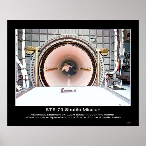 Flotadores de Shannon W. Lucid del astronauta. Póster