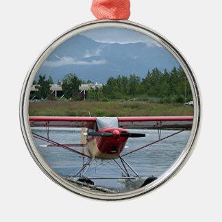 Flote el avión 11, capilla del lago, Anchorage, Adorno Navideño Redondo De Metal