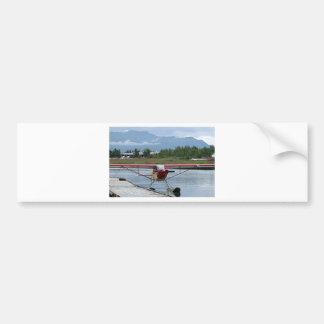 Flote el avión 11, capilla del lago, Anchorage, Al Pegatina De Parachoque