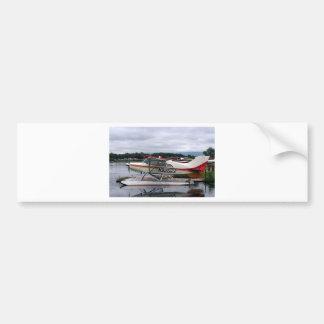 Flote el avión 12, capilla del lago, Anchorage, Al Pegatina De Parachoque