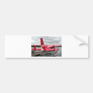 Flote el avión 13, capilla del lago, Anchorage, Al Pegatina De Parachoque