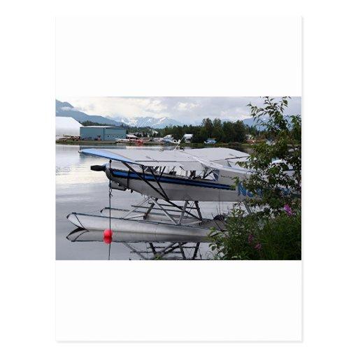 Flote el avión 2, capilla del lago, Anchorage, Ala Tarjetas Postales