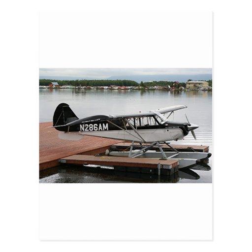 Flote el avión 4, capilla del lago, Anchorage, Ala Tarjeta Postal
