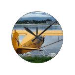 Flote el avión 6, capilla del lago, Anchorage, Ala Reloj De Pared